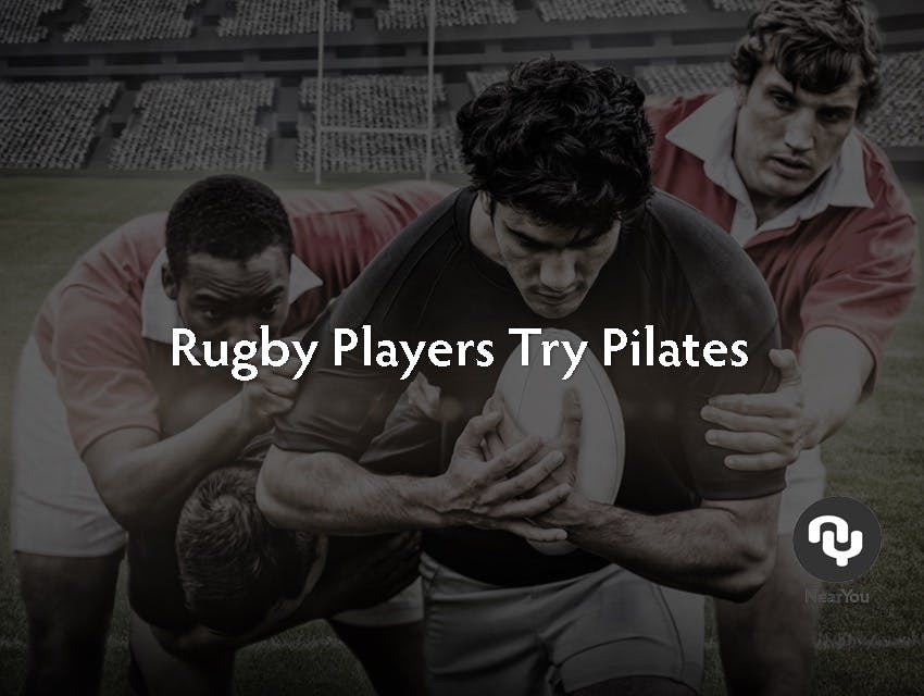 Rugby Players Try Pilates Classes