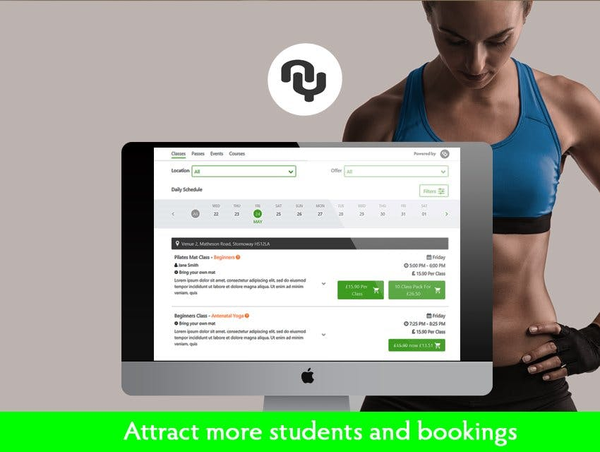 THE Best Pilates booking Software